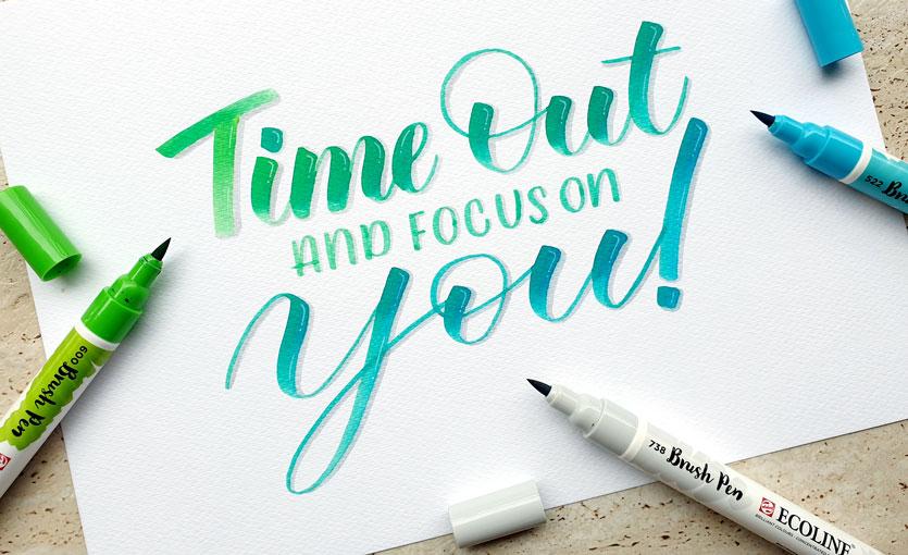 Hand Lettering Brush Pen Calligraphy